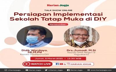 Talk show Online Persiapan Implementasi Sekolah Tatap Muka di DIY
